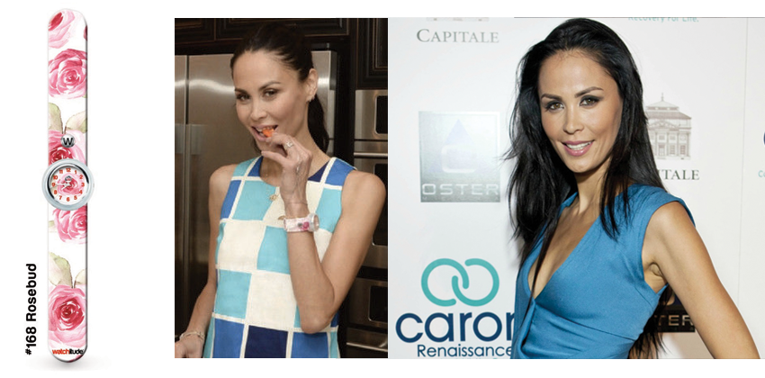 The Real Housewives of New York City star Jules Wainstein loves to to get busy in the kitchen while wearing her Rosebud Watchitude slap watch.