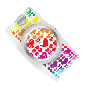 Rainbow Hearts - Watchitude Slap Watch - Watchitude