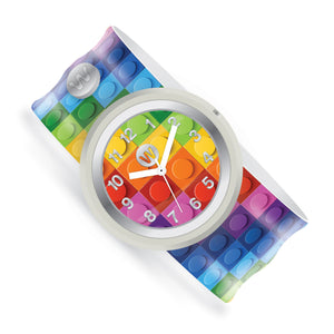 Rainbow Blocks - Watchitude Slap Watch - Watchitude