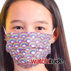 "Kids Fun Masks (6-pack) ""Butterfly"" & ""Rainbow Playground"" designs"