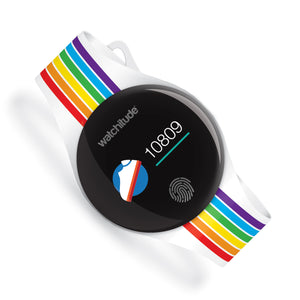 Rainbow Stripes - Watchitude Move2 - Kids Activity Waterproof Watch - Watchitude