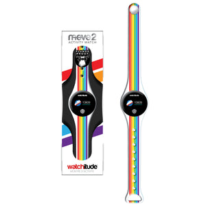 Rainbow Stripes - Watchitude Move2 - Kids Activity Plunge Proof Watch - Watchitude