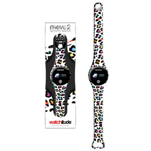 Leopard Camo - Watchitude Move2 - Kids Activity Plunge Proof Watch - Watchitude