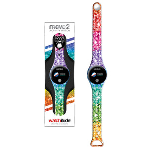 Sassy Sequins - Watchitude Move2 - Kids Activity Plunge Proof Watch - Watchitude