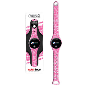 Pink Crocodile - Watchitude Move2 - Kids Activity Plunge Proof Watch - Watchitude