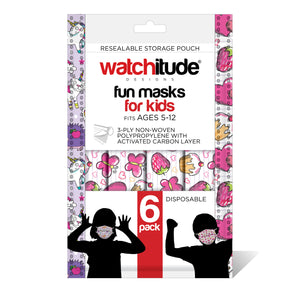 "Kids Fun Masks (36-pack) ""Butterfly Picnic"" & ""Club Unicorn"" designs"
