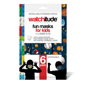 "Kids Fun Masks (36-pack) ""Build Up"" & ""Sports"" designs"