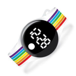 Rainbow Stripes - blip digital watch - Watchitude