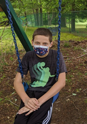 watchitude kids face mask sports dino camo