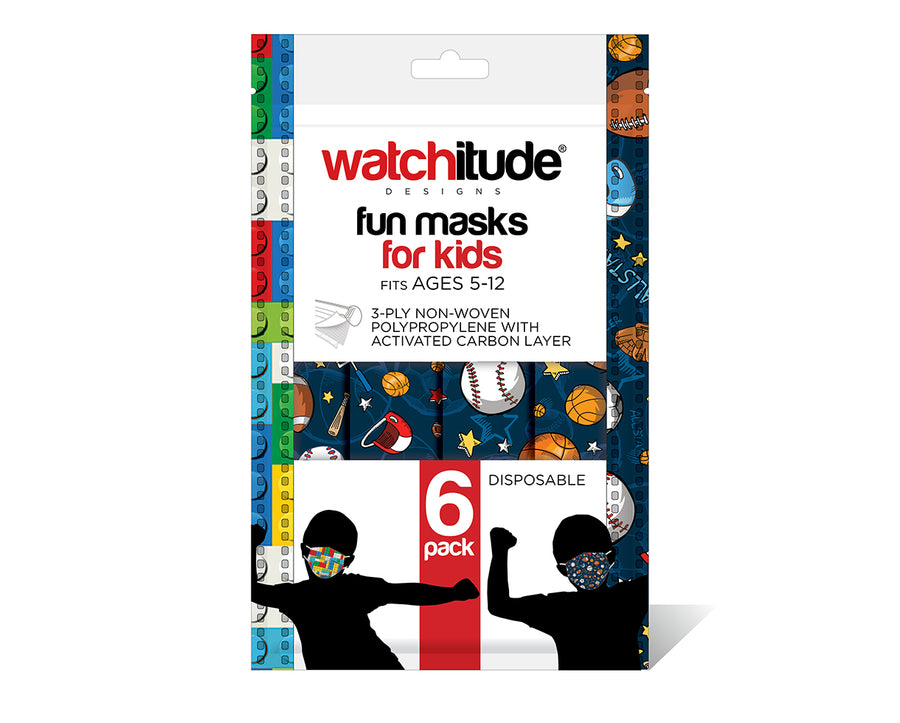 watchitude kids face mask 695 6-pack masks