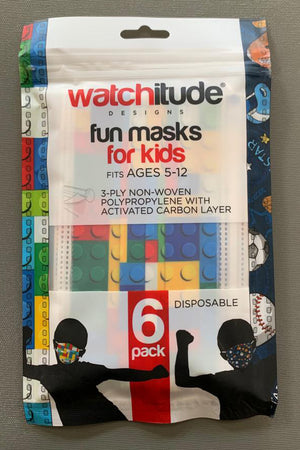 watchitude kids face mask 695 front grey