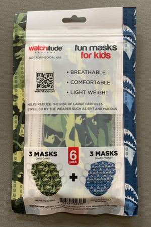 watchitude kids face mask 696 back grey