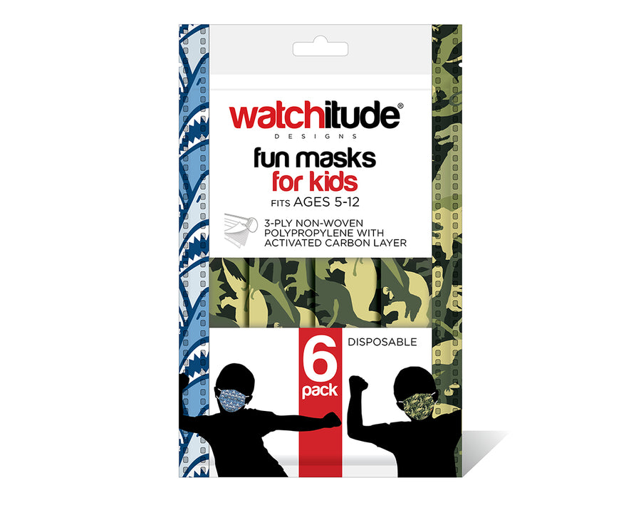 watchitude kids face mask 696 6-pack masks