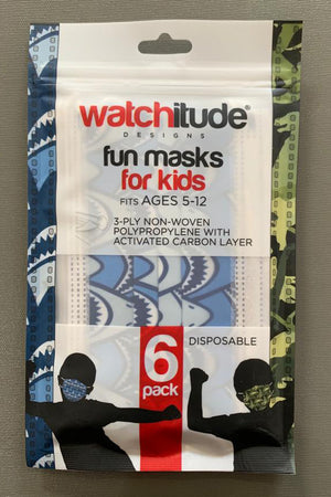 watchitude kids face mask 696 front grey