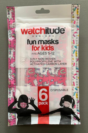 watchitude kids face mask 698 front grey