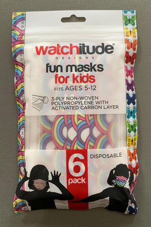 watchitude kids face mask 699 front grey