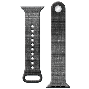 Watch Band - Fits Apple Watch - Black Canvas - Choose Size - Watchitude