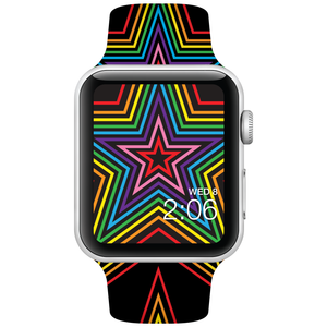 Watch Band - Fits Apple Watch - Rainbow Stars - Choose Size - Watchitude