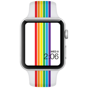 Watch Band - Fits Apple Watch - Rainbow Stripes - Choose Size - Watchitude