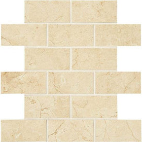 American Olean Mirasol 2 in. x 4 in. Porcelain Brick-joint Mosaic - Crema Laila
