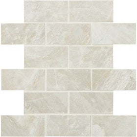 American Olean Mirasol 2 in. x 4 in. Porcelain Brick-joint Mosaic - Silver Marble