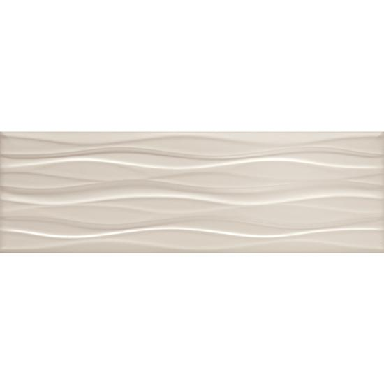 American Olean Visual Impressions Wall Tile - Multi Wave - Beige