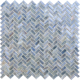 American Olean - Novelty Herringbone Glass Mosaic - Lapis NV95