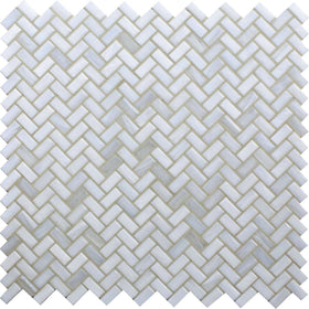 American Olean - Novelty Herringbone Glass Mosaic - Opal NV93