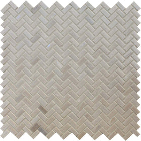 American Olean - Novelty Herringbone Glass Mosaic - Quartz NV97