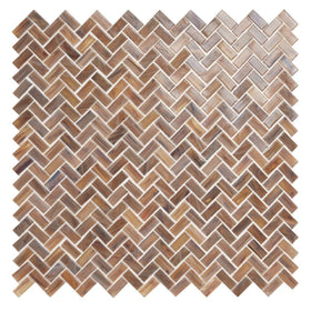 American Olean - Novelty Herringbone Glass Mosaic - Tortoise NV98