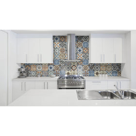 Anatolia - Marrakesh HD 8 in. x 8 in. Glossy Porcelain Tile - Color Mix Installed