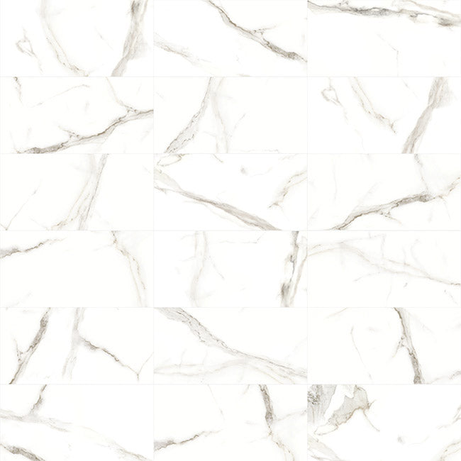 Anatolia Mayfair 24 in. x 24 in. HD Rectified Porcelain Tile Calacatta (Polished) Extra
