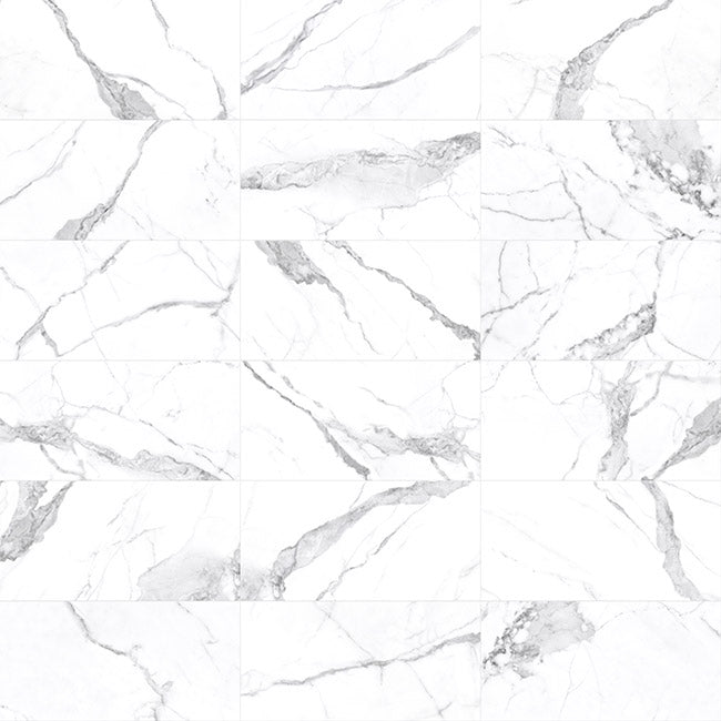 Anatolia Mayfair 24 in. x 24 in. HD Rectified Porcelain Tile Statuario (Matte) Extra
