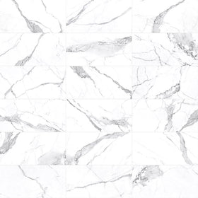 Anatolia Mayfair 10.5 in. x 32 in. HD Rectified Porcelain Tile Statuario Venato Extra