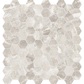 Anatolia Mayfair 1.25 in. x 1.25 in. HD Porcelain Hexagon Mosaics - Stella Argento (Polished)