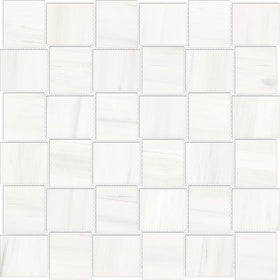 Anatolia Mayfair 2 in. x 2 in. HD Porcelain Basketweave Mosaics - Suave Bianco (Matte)