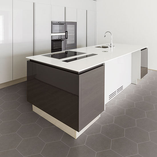 Daltile - Bee Hive 24 in. x 20 in. Porcelain Tile - Grey Lifestyle