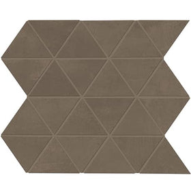 Daltile Chord 3 in. Triangle Porcelain Mosaic - Baritone Brown