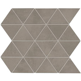 Daltile Chord 3 in. Triangle Porcelain Mosaic - Forte Grey