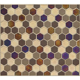 Daltile Coastal Keystones 1 in. Hexagon Mosaic Treasure Island