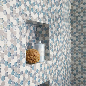 Daltile Coastal Keystones 1 in. Hexagon Mosaic Lifestyle