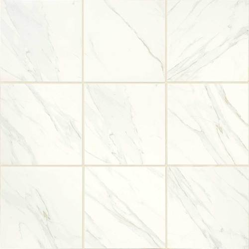 Daltile Florentine 24 in. x 24 in. Glazed Porcelain Floor Tile - Carrara