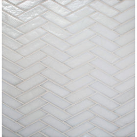 Daltile - Illuminary Herringbone Glass Mosaic - Icicle IL01