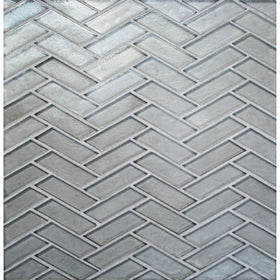 Daltile - Illuminary Herringbone Glass Mosaic - Silverlight IL03
