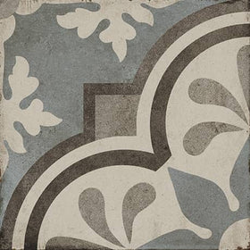 Daltile Quartetto - 8 in. x 8 in. Glazed Porcelain Tile - Cool Grande Fiore