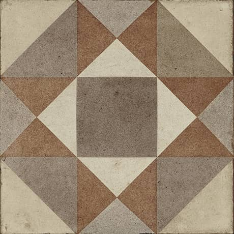 Daltile Quartetto - 8 in. x 8 in. Glazed Porcelain Tile - Warm Figura