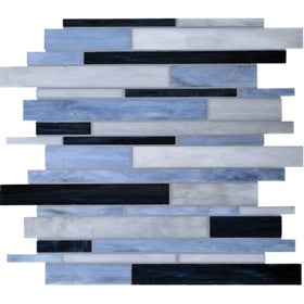 Daltile - Serenade Random Length Glass Mosaic - Motor City F187