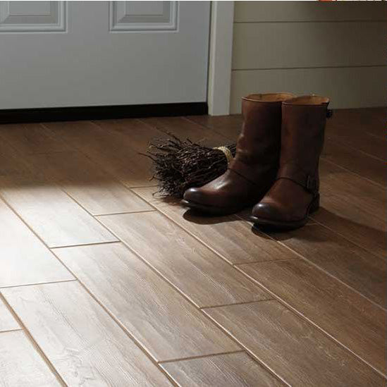 Daltile Willow Bend 6 In X 24 In Glazed Porcelain Floor