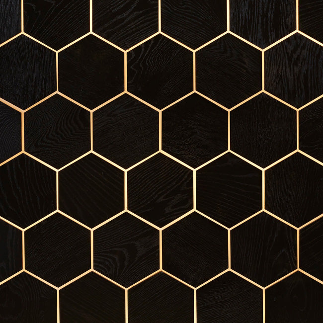 DuChateau - Angled Hexo Wall Coverings - Noir