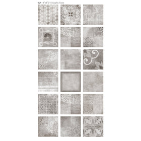 Emser Tile - Design 9 in. x 9 in. Glazed Porcelain Tile - Art Mix
